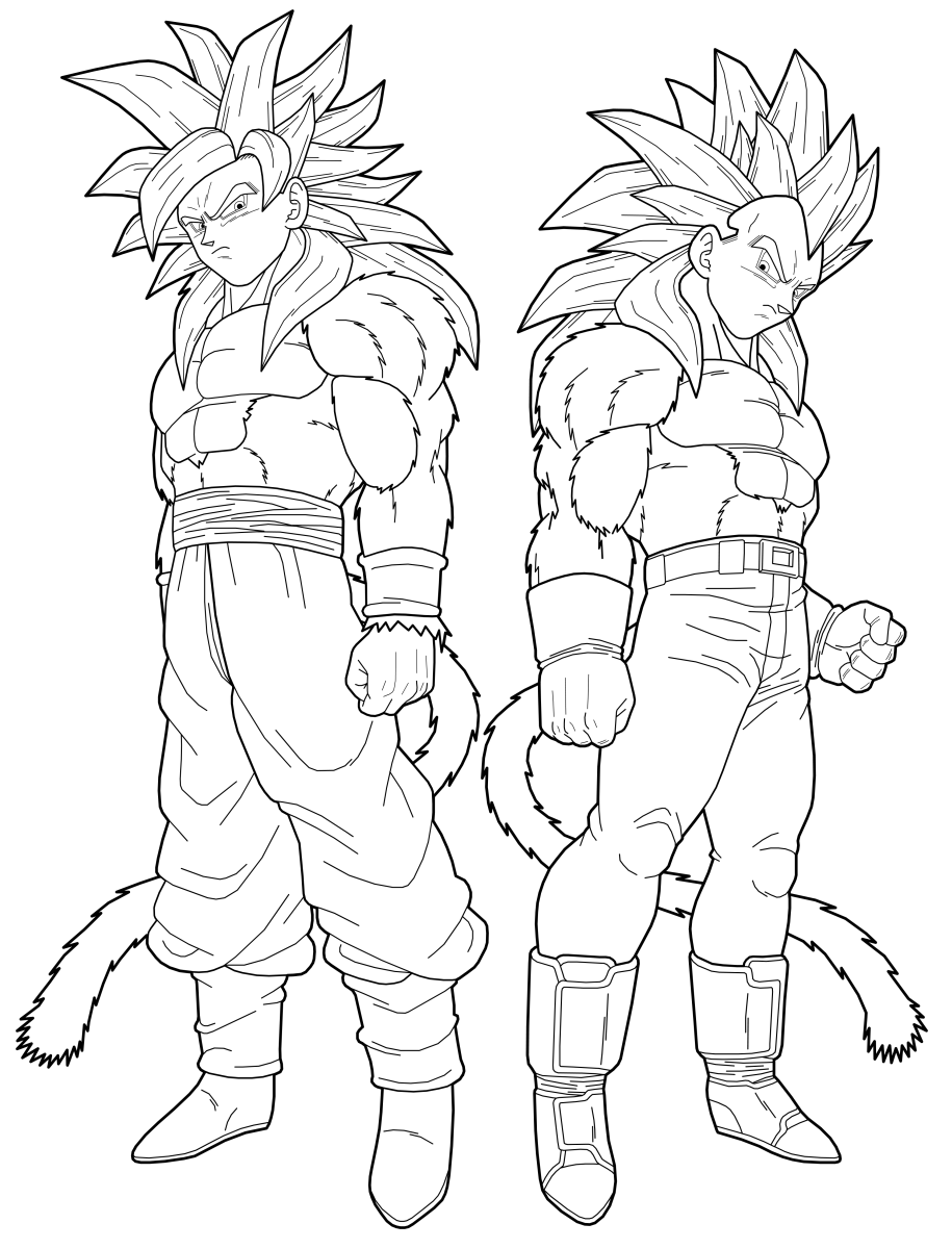 915x1200 Free Printable Dragon Ball Z Coloring Pages For Kids