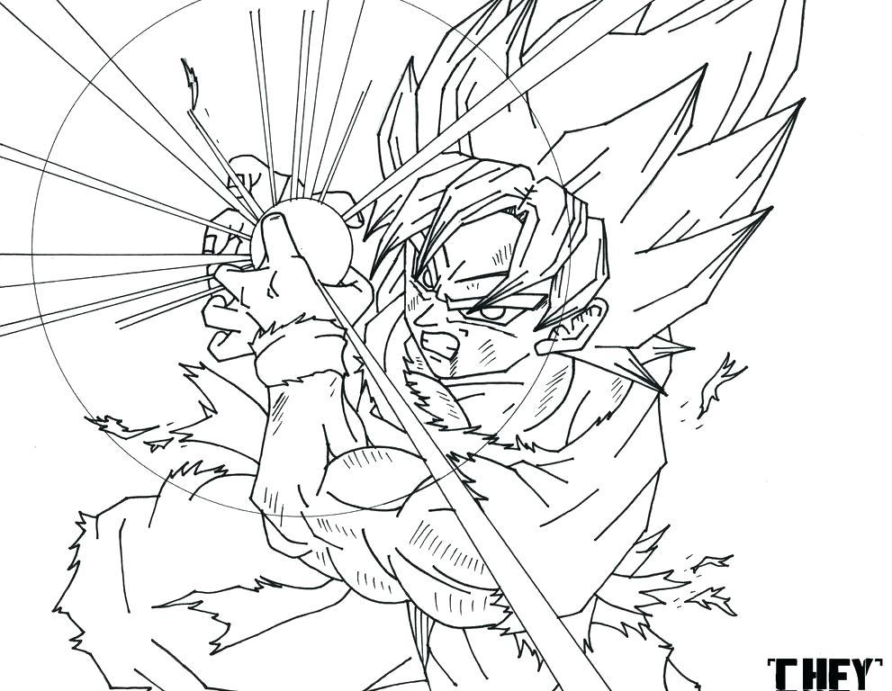 991x768 Goku Coloring Page Coloring Games Coloring Dragon Ball Z Coloring