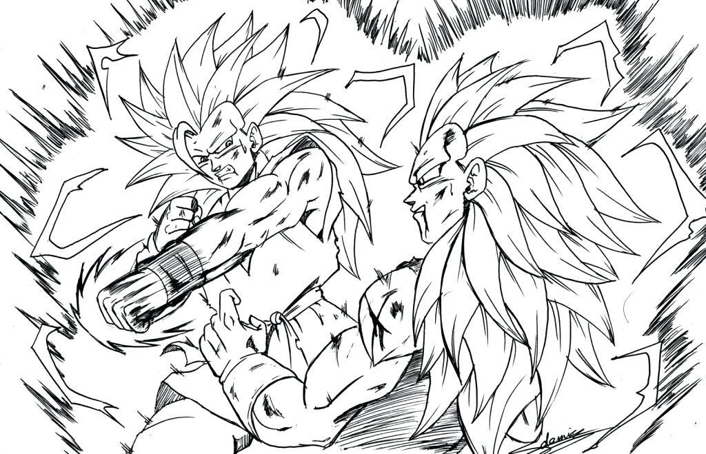1024x659 Goku Super Saiyan Coloring Pages Printable Coloring Dragon Ball