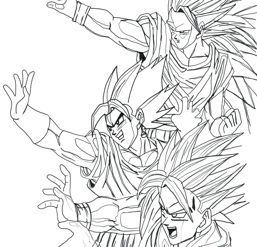 900x864 Goten Coloring Pages Color Pages Luxury Coloring Pages Dragon Ball