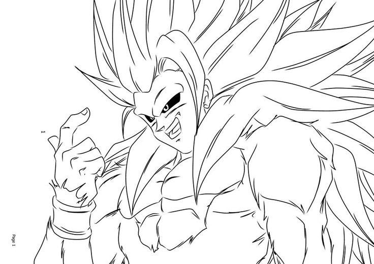 736x520 Super Saiyan Goku Coloring Pages Super Saiyan Goku Coloring
