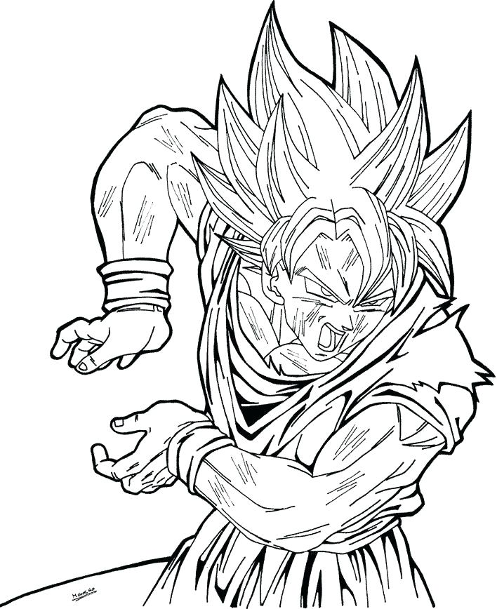 708x868 Dragon Ball Z Coloring Pages Goku