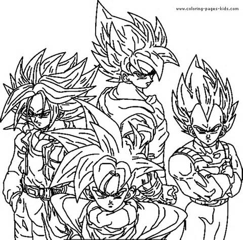 480x474 Best Dragon Ball Z Coloring Page Free Printable