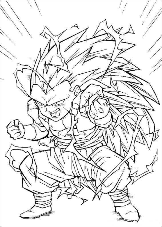 567x794 Kids N Coloring Pages Of Dragon Ball Z