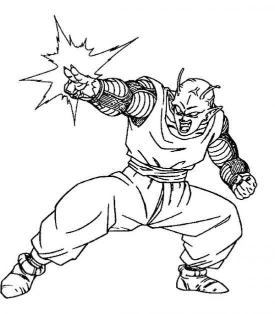550x627 Dragon Ball Z Coloring Pages