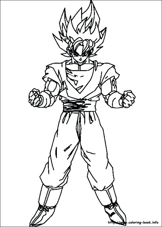 567x794 Dragon Ball Z Goku Coloring Pages Dragon Ball Z Coloring Pages