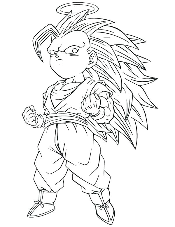 600x776 Kid Goku Coloring Pages Awesome Dragon Ball Z Coloring Pages Print