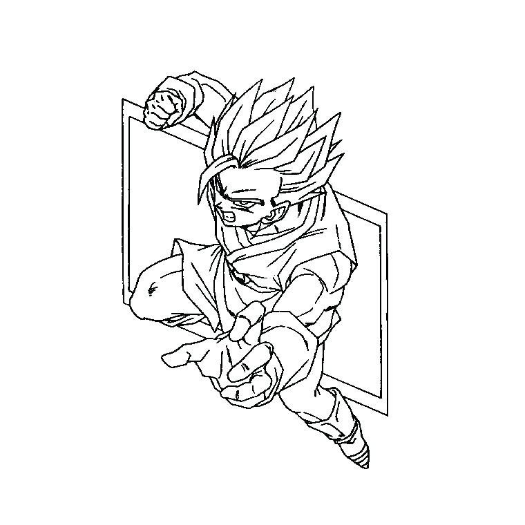 Dragon Ball Z Coloring Pages At Getdrawings Com Free For Personal