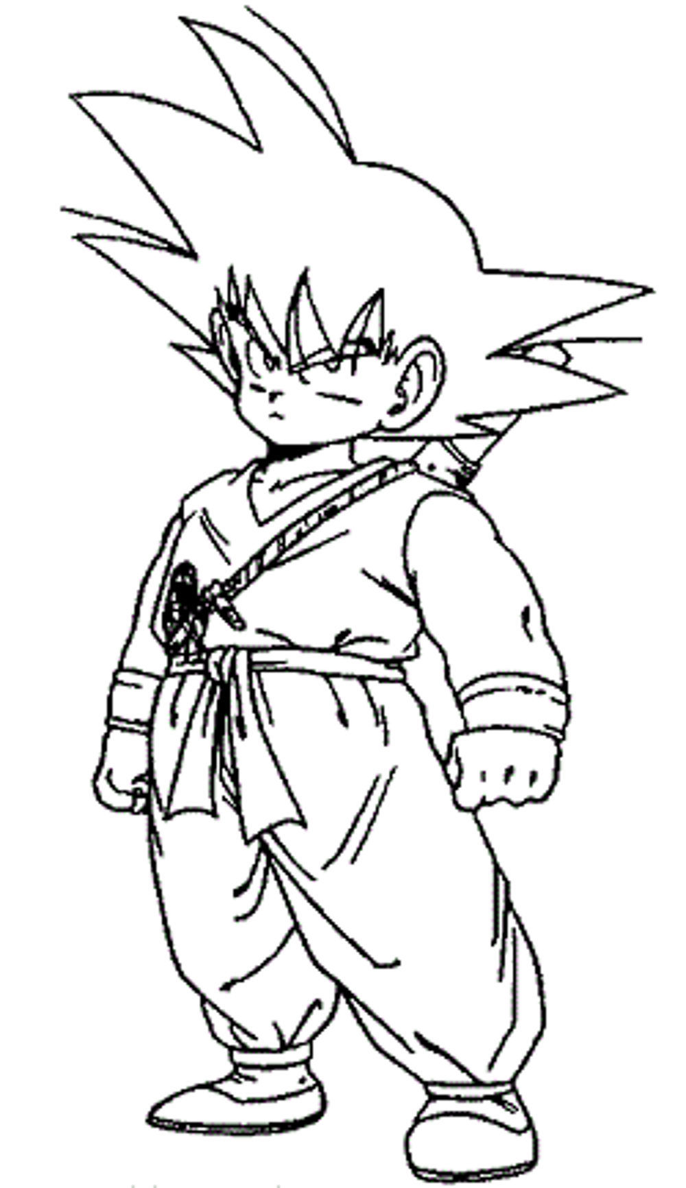 1000x1732 Dragon Ball Z Coloring Pages Little Goku