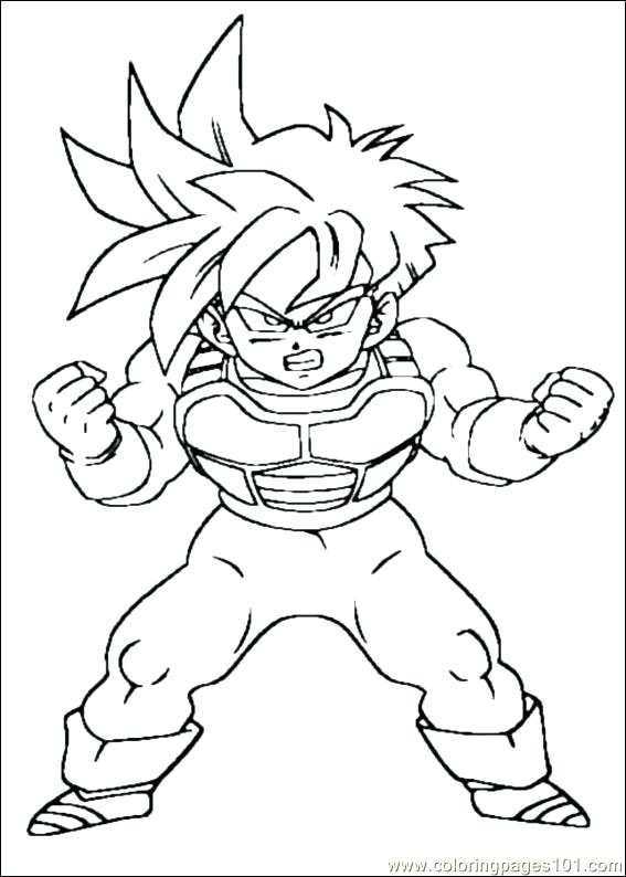 567x794 Dragon Ball Z Coloring Pages Icontent