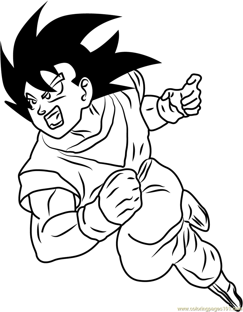 800x1026 Dragon Ball Z Coloring Page