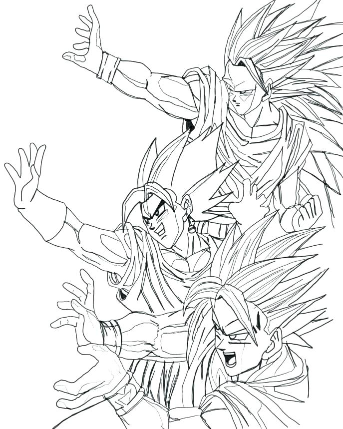 687x859 Dbz Coloring Pages Coloring Pages Large Size Of Coloring Coloring