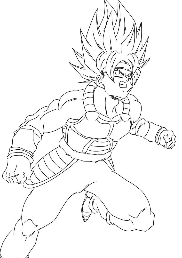 751x1064 Dragon Ball Z Bardock Coloring Pages