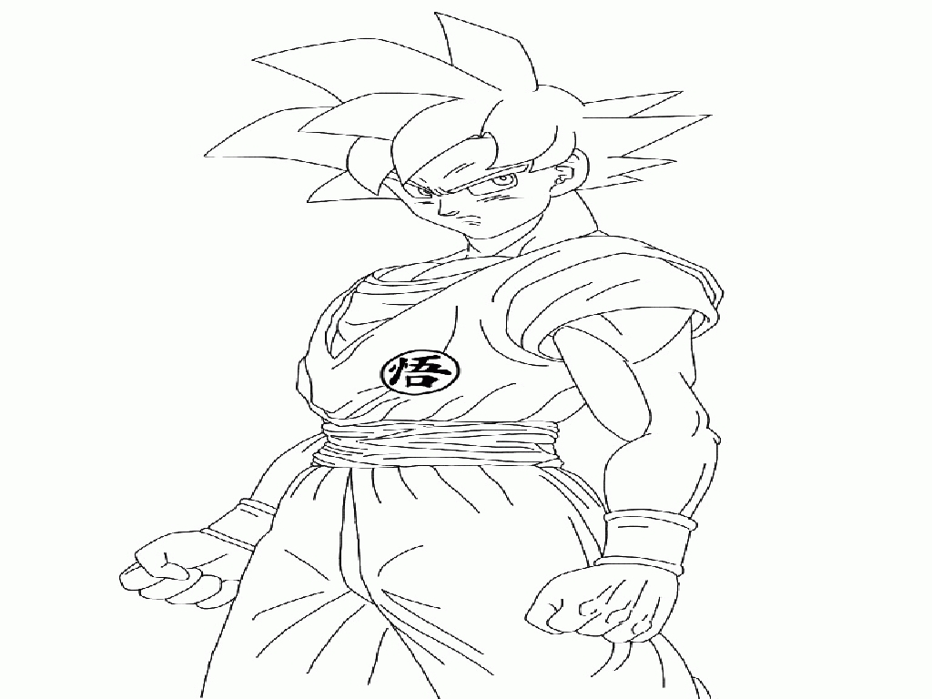 1024x768 Dbz Coloring Pages Compilation Free Coloring Pages