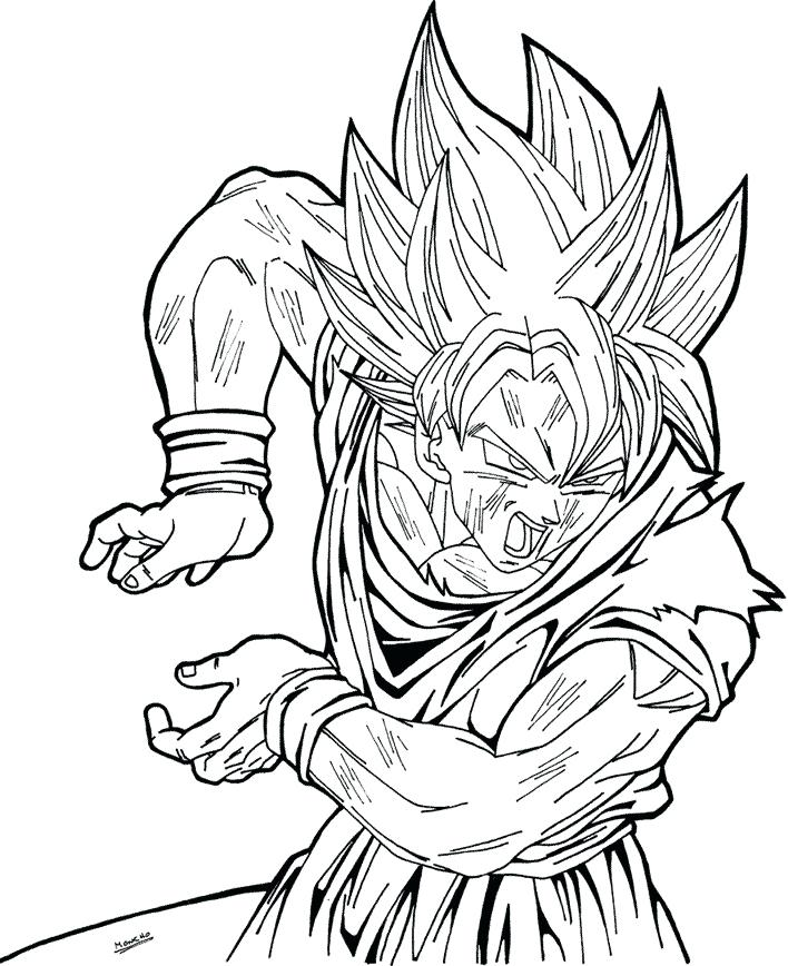 Dragon Ball Z Coloring Pages Bardock At Getdrawings Com
