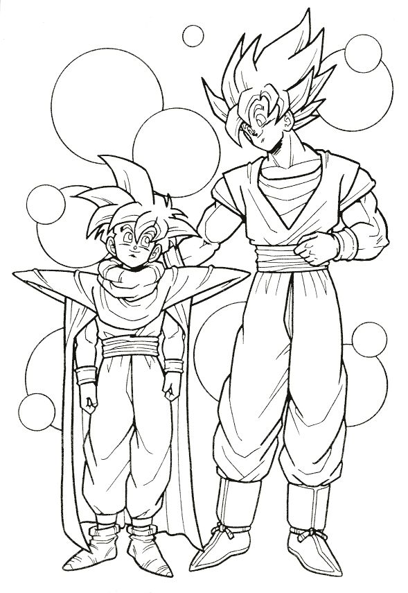 589x855 Best Dragon Ball Z Coloring Pages Images