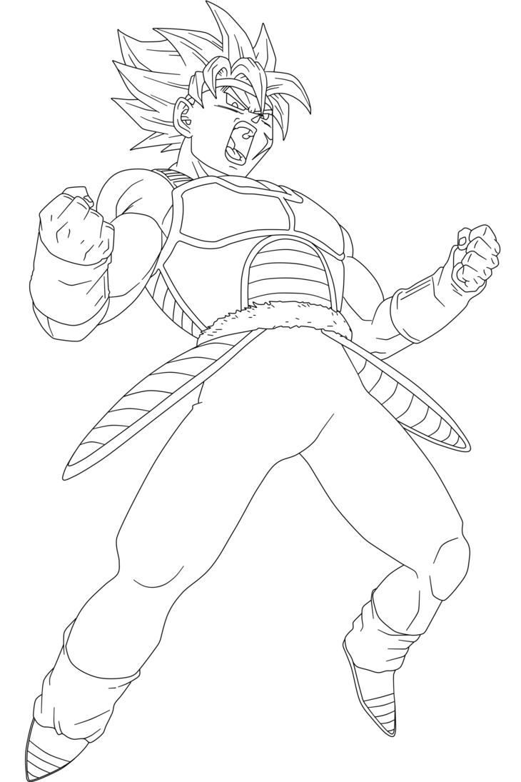 730x1095 Ssj Bardock Lineart