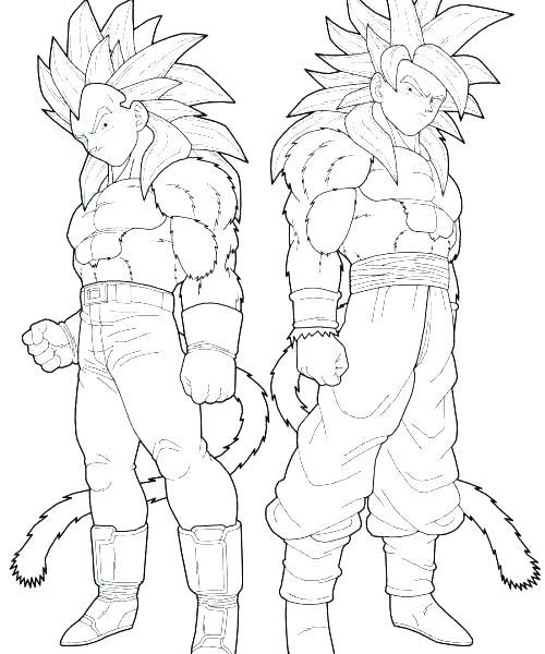 500x600 Dragon Ball Z Coloring Pages Goku Super Saiyan