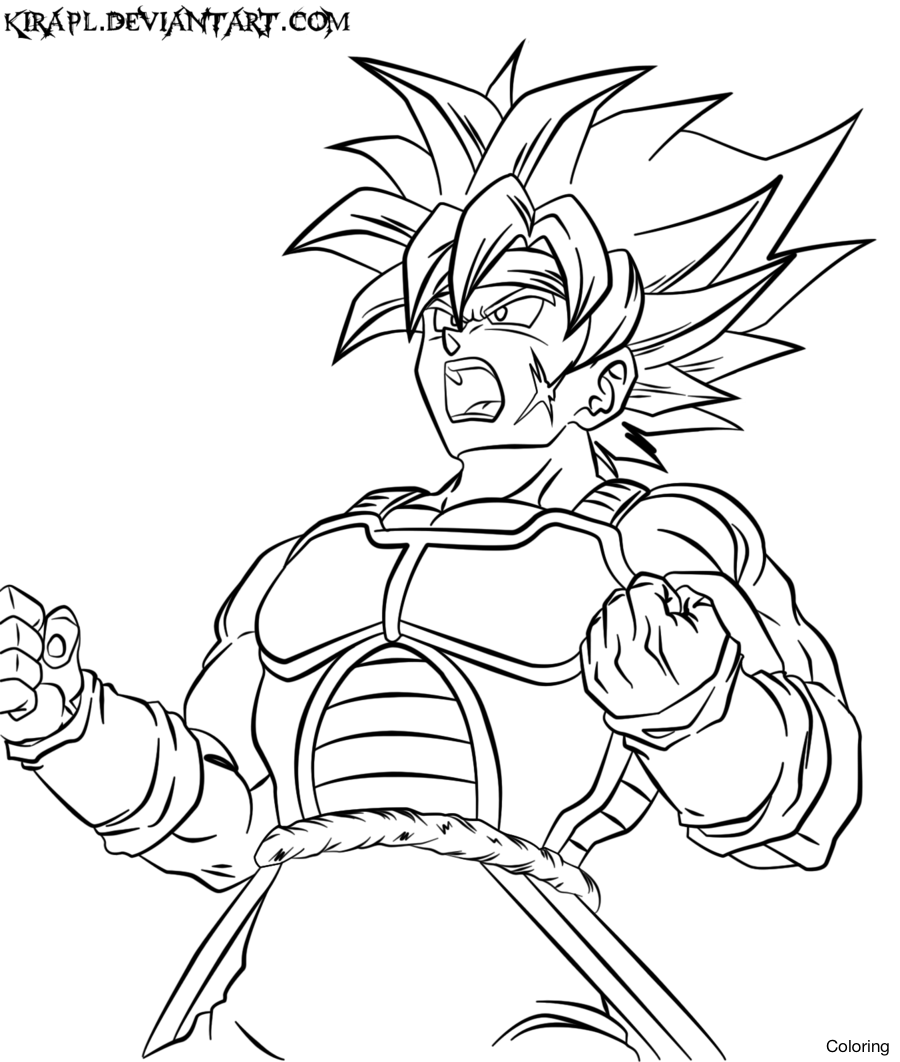 Dragon Ball Z Coloring Pages Bardock at GetDrawings Free