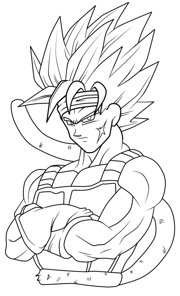 600x986 Bardock Dbz Coloring Sheets And Lineart