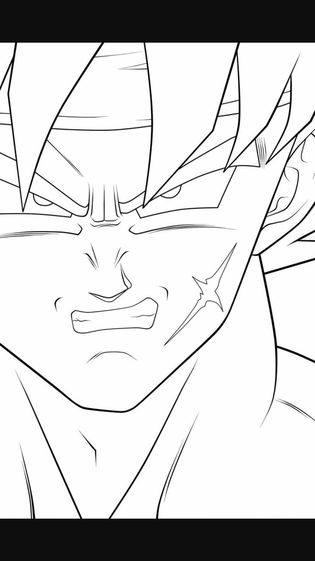 1080x1920 Bardock Coloring Pages