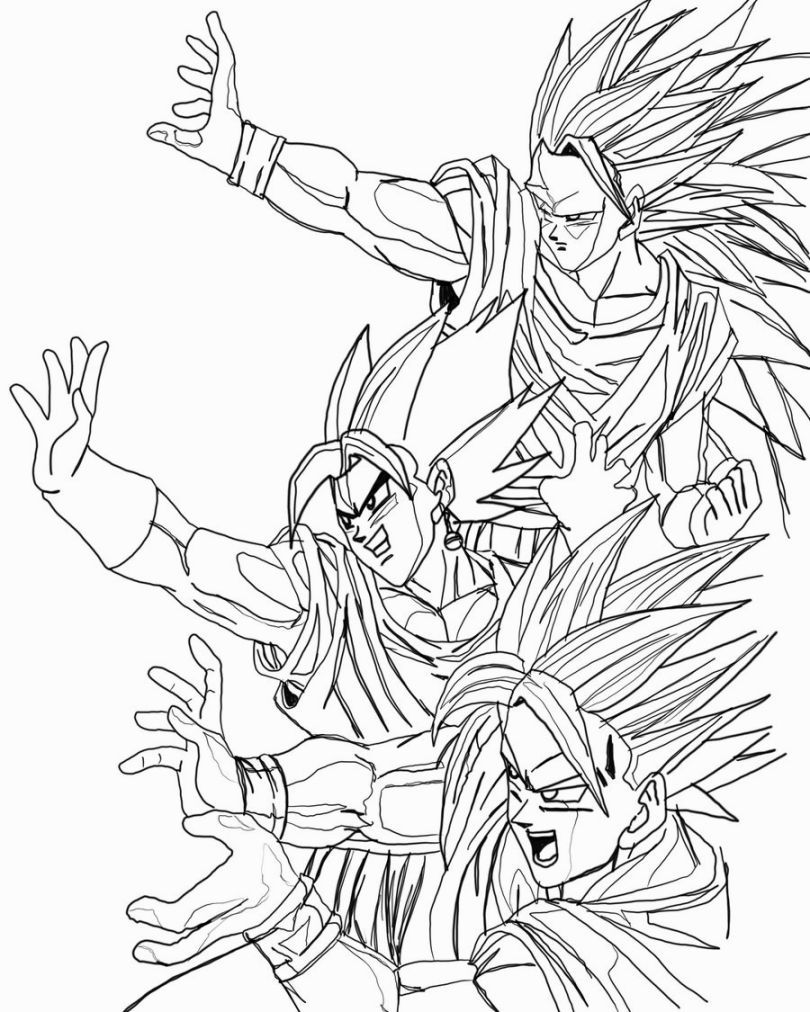810x1012 Dragon Ball Z Coloring Movietvvideo Game Coloring Pages