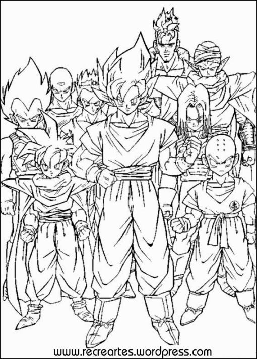 510x714 Dragon Ball Z Coloring Book Pdf Movietvvideo Game Coloring