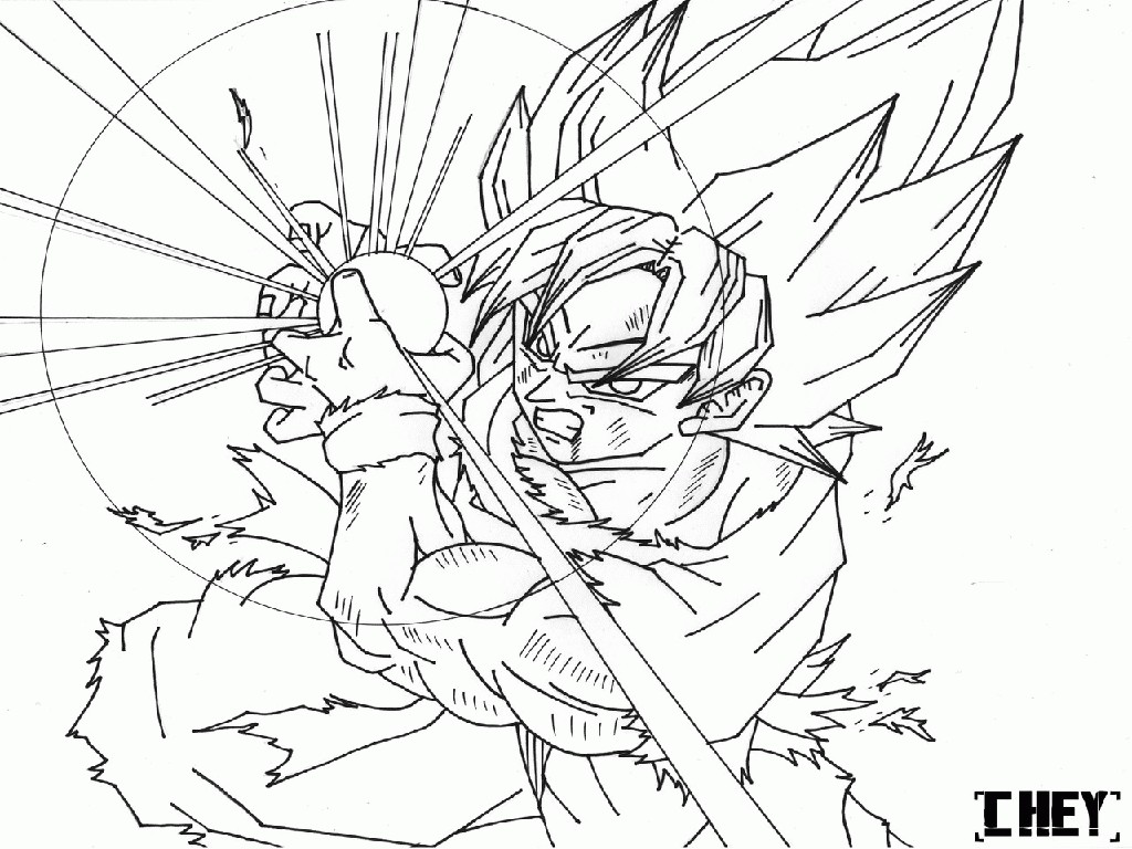 1024x768 Dragon Ball Z Coloring Pages Goku Games Best Of Dragon Ball Z Go