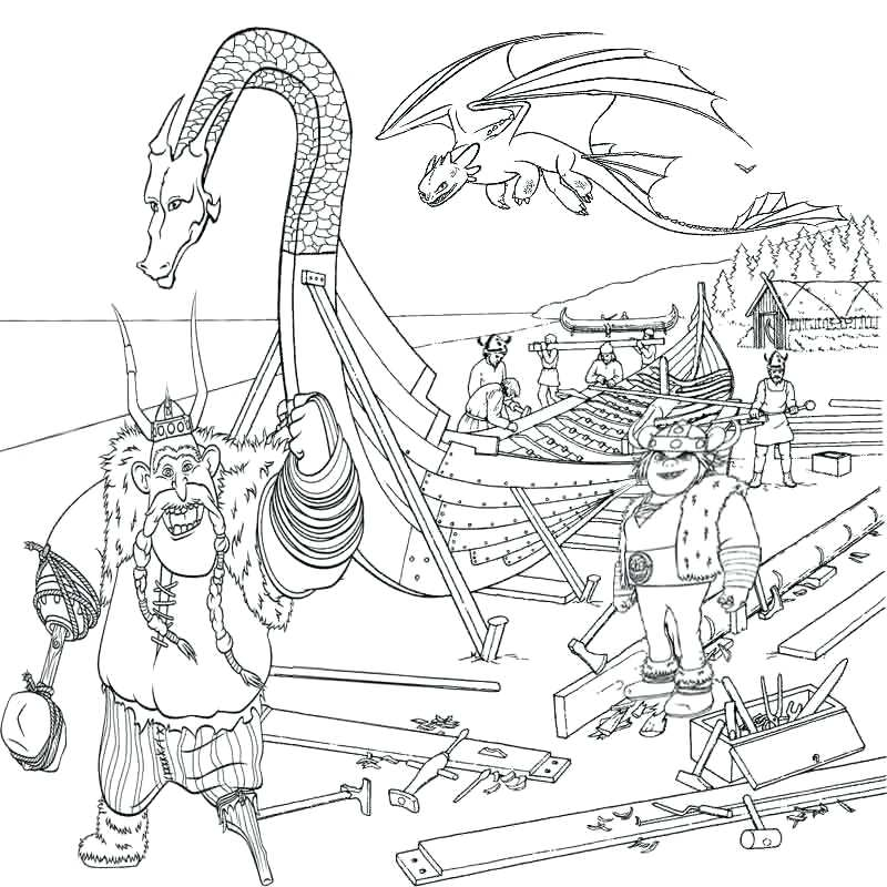 800x800 Dragon Color Pages Viking Ship Coloring Page Dragon Ball Z
