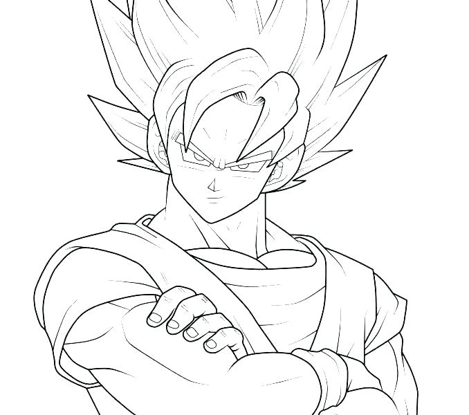 678x600 Goku Coloring Page Coloring Pages Coloring Pages Dragon Ball Z