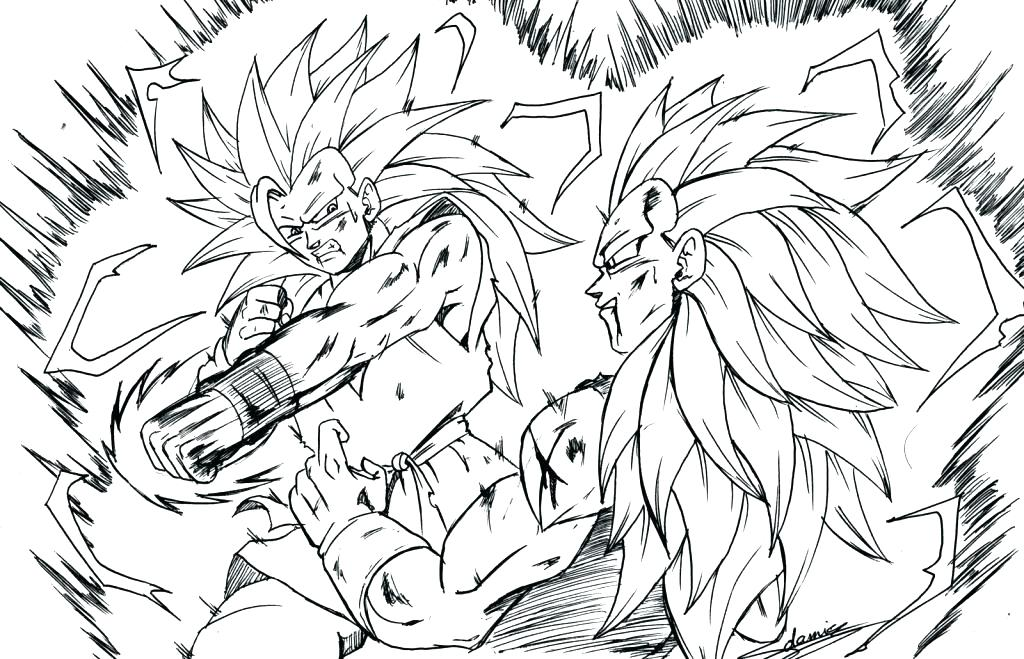 1024x659 Goku Coloring Page Dragon Ball Z Is Flying Goku Vs Vegeta Coloring