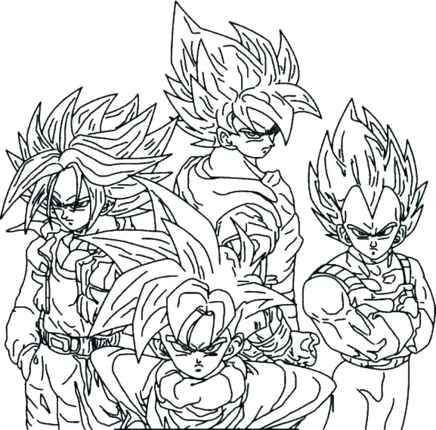 863x852 Coloring Pages Of Dragon Ball Z Coloring Pages Dragon Ball Z