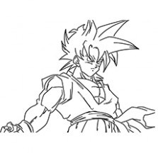 223x223 Dragon Ball Z Coloring Pages Goku Super Saiyan Best Of Just
