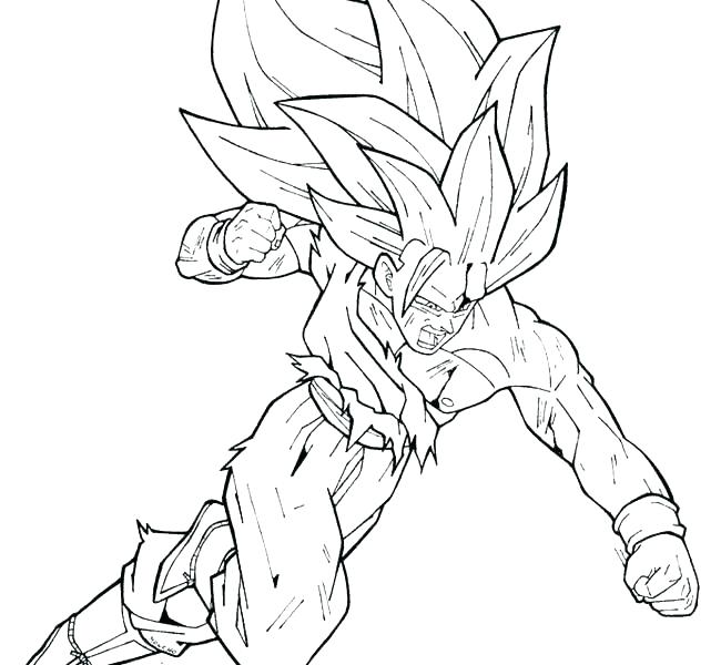 650x600 Dragon Ball Z Coloring Pages Goku Super Saiyan Dragon Ball Z