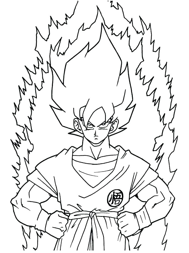 750x1000 Dragon Ball Z Goku Coloring Pages Coloring Pages Dragon Ball Z
