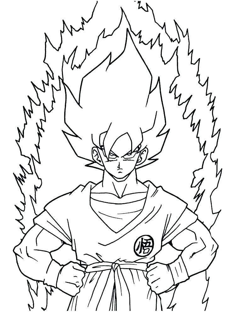 Dragon Ball Z Coloring Pages Goku Super Saiyan 5 at ...