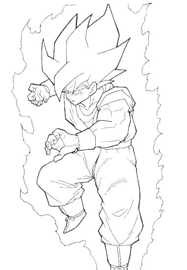 381x550 Goku For Coloring Coloring Page Family Coloring Page Coloring