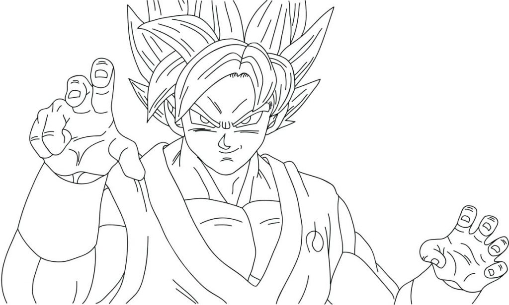 1024x615 Coloring Page Dragon Ball Z Coloring Page Fabulous On Pages