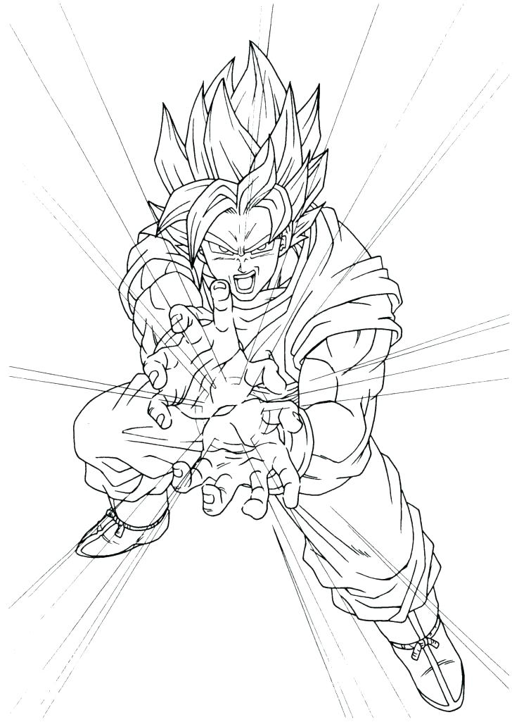 728x1025 Dragon Ball Z Coloring Pages Super Saiyan