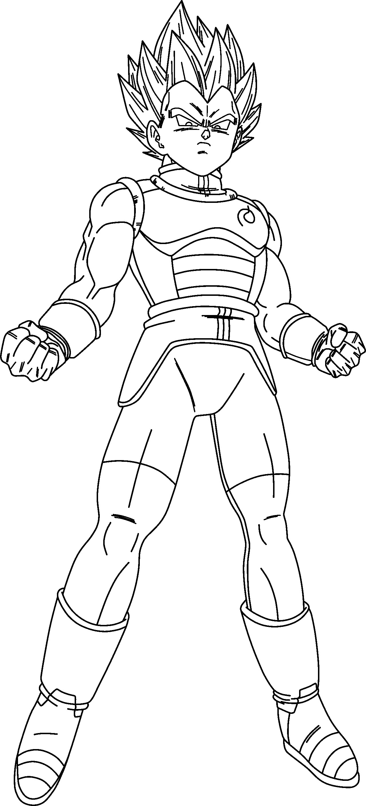 1280x2817 Dragon Ball Z Coloring Page Goku Super Saiyan Simple God Pages