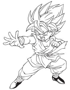 236x305 Anime Dragon Ball Z Coloring Page Coloring Pages Coloring