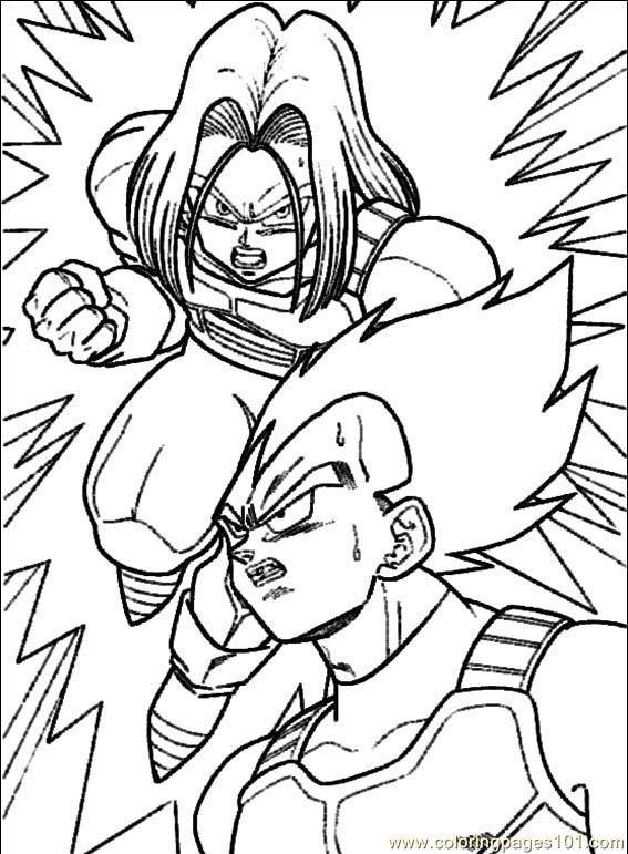 567x771 Dragon Ball Z Coloring Pages Dragon Ball Z Dibujos