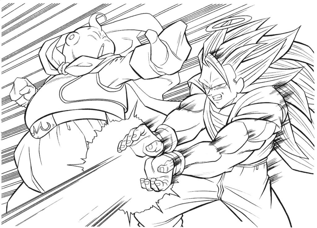 1024x738 Dragon Ball Z Coloring Pages Bebo Pandco Regarding Page Prepare