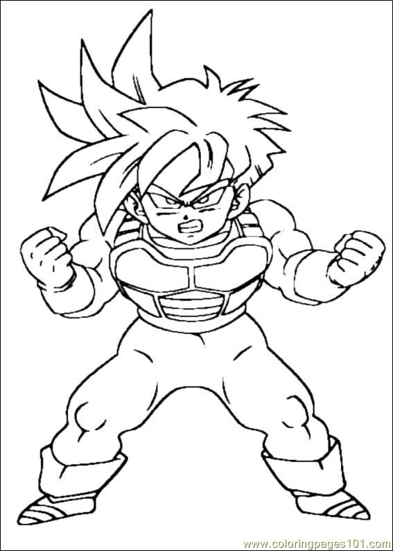 567x794 Dragon Ball Z Coloring Pages Free