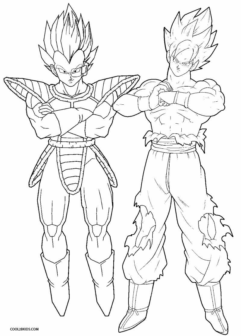 800x1114 Dragonball Z Coloring Pages Printable Goku For Kids