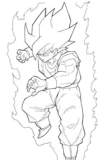 381x550 Goku Coloring Sheets Ball Z Coloring Pages Super Goku Super
