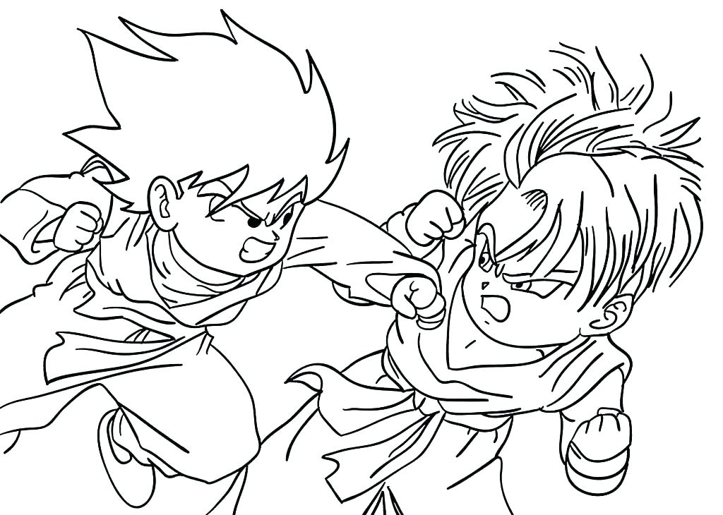 1024x730 Super Saiyan Coloring Pages Super Coloring Pages Dragon Ball Z