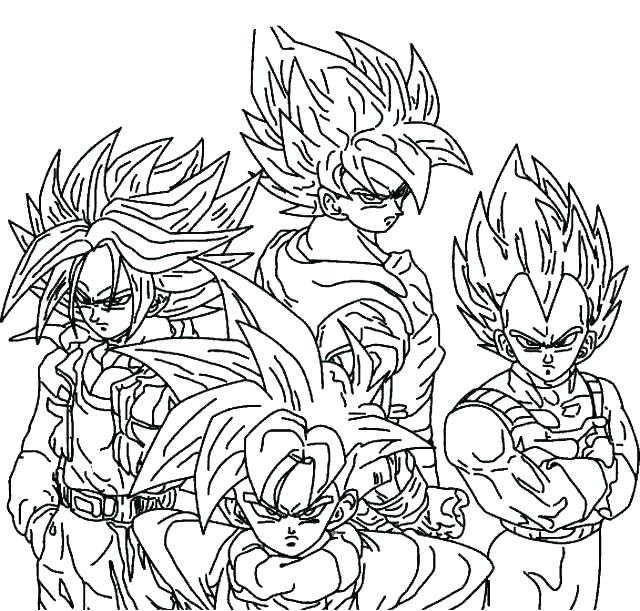 640x611 Coloring Pages Dragon Ball Z Coloring Pages Coloring Pages