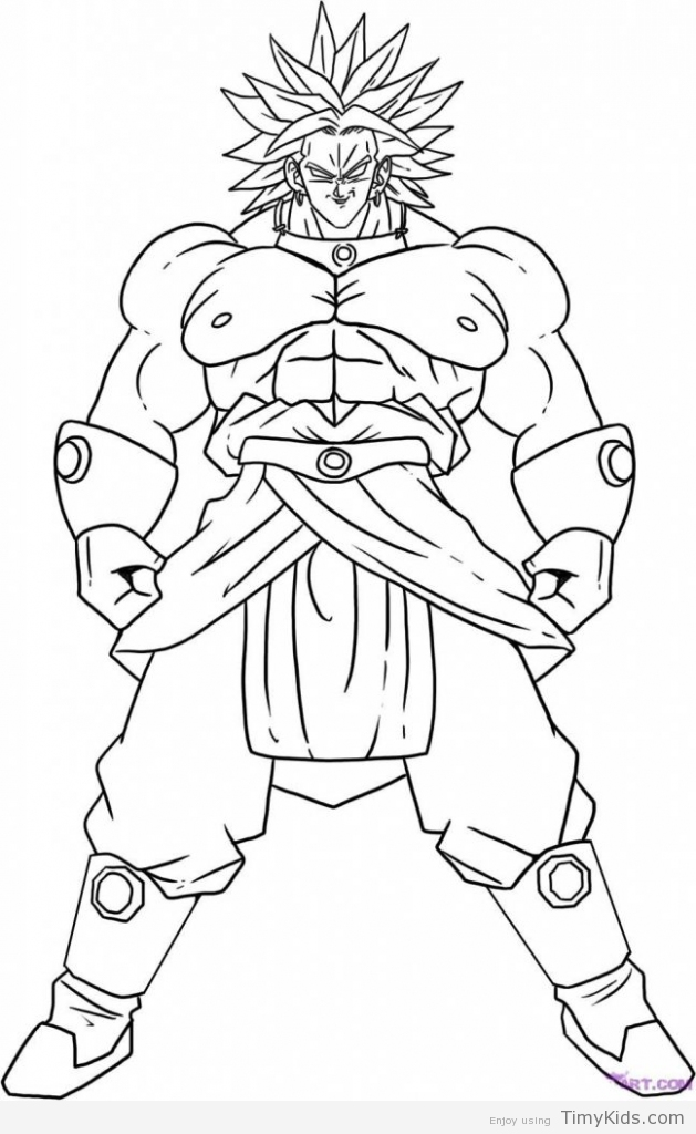 629x1024 Dragon Ball Z Coloring Pages Printable Timykids