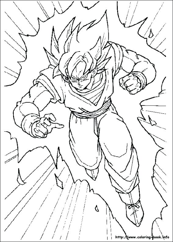 567x794 Dragon Ball Z Coloring Pages Printable